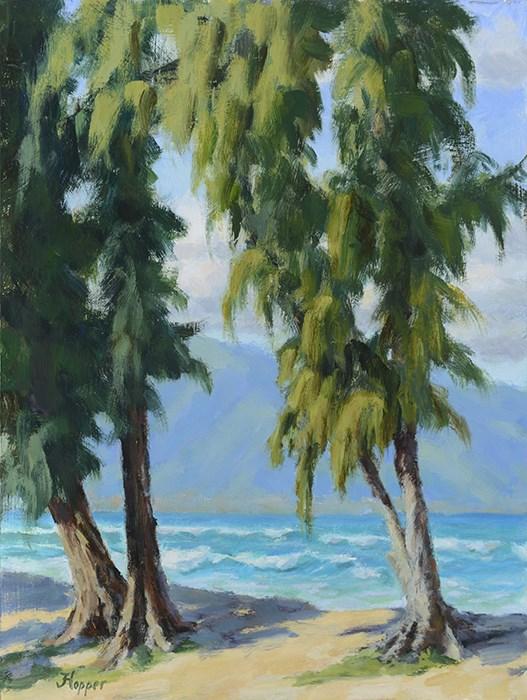 """""""Kanaha Beach Park"""" original fine art by Joanne Hopper"""