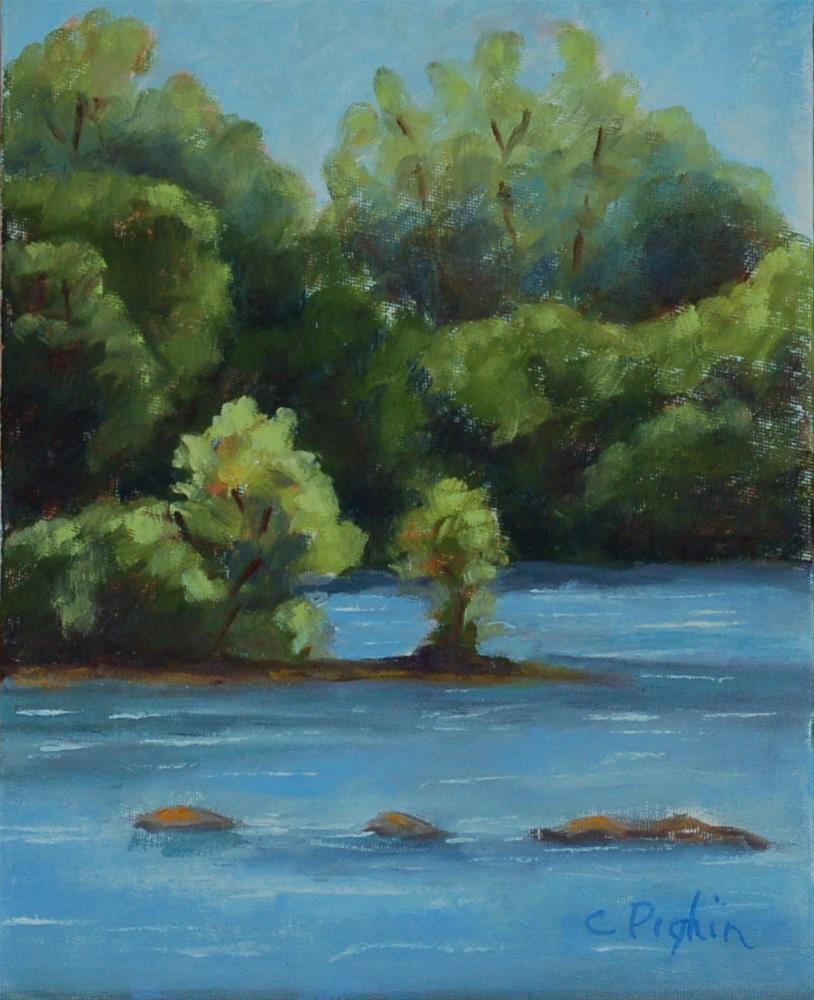 """Riverwalk"" original fine art by Carol Pighin"