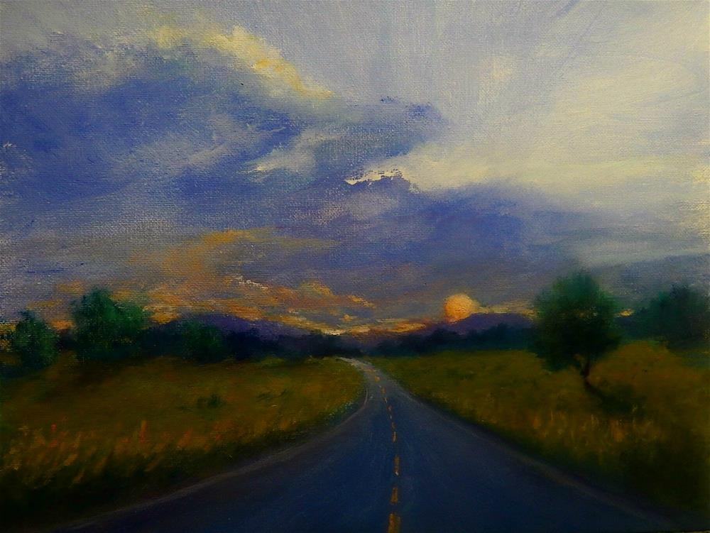 """""""Headed West"""" original fine art by Sharon Kay Baker"""