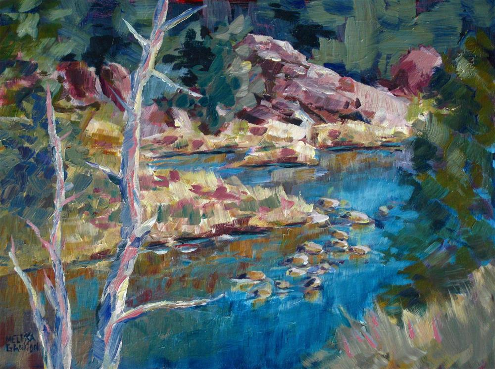 """Above the Crooked River"" original fine art by Melissa Gannon"