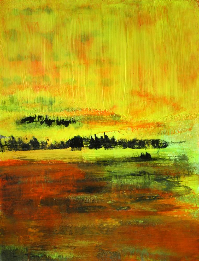 """Yellow, Sienna, Black"" original fine art by Alina Frent"