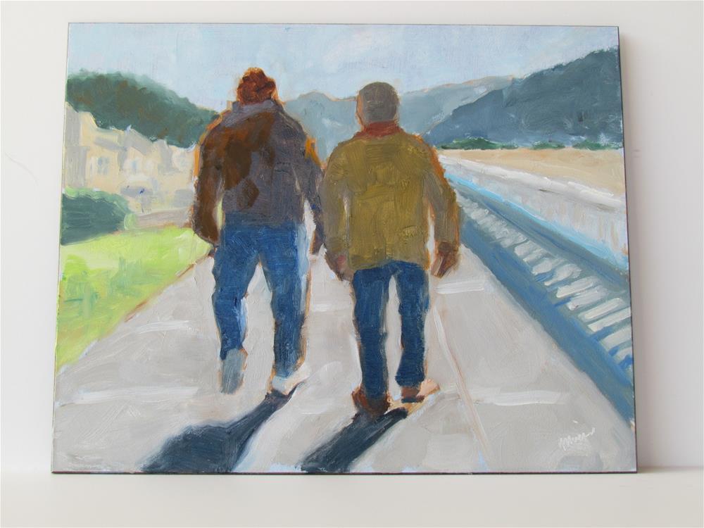 """Fall Promenade Walk"" original fine art by Elaine Friesen"