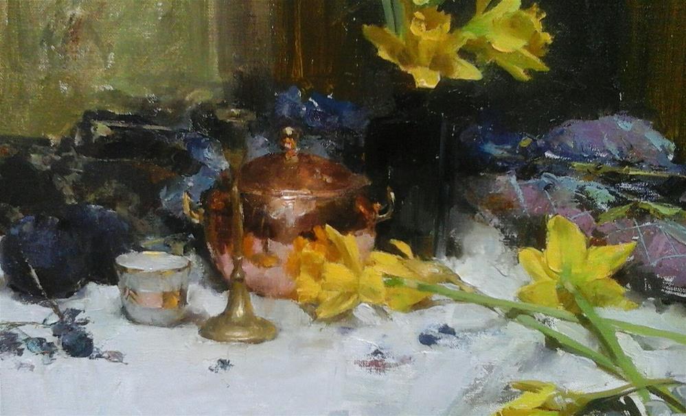 """""""Daffodils"""" original fine art by Taisia Kuklina"""