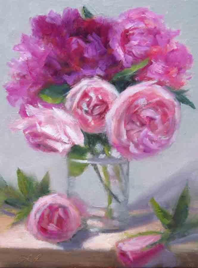 """""""Gallery Bouquet"""" original fine art by Pat Fiorello"""