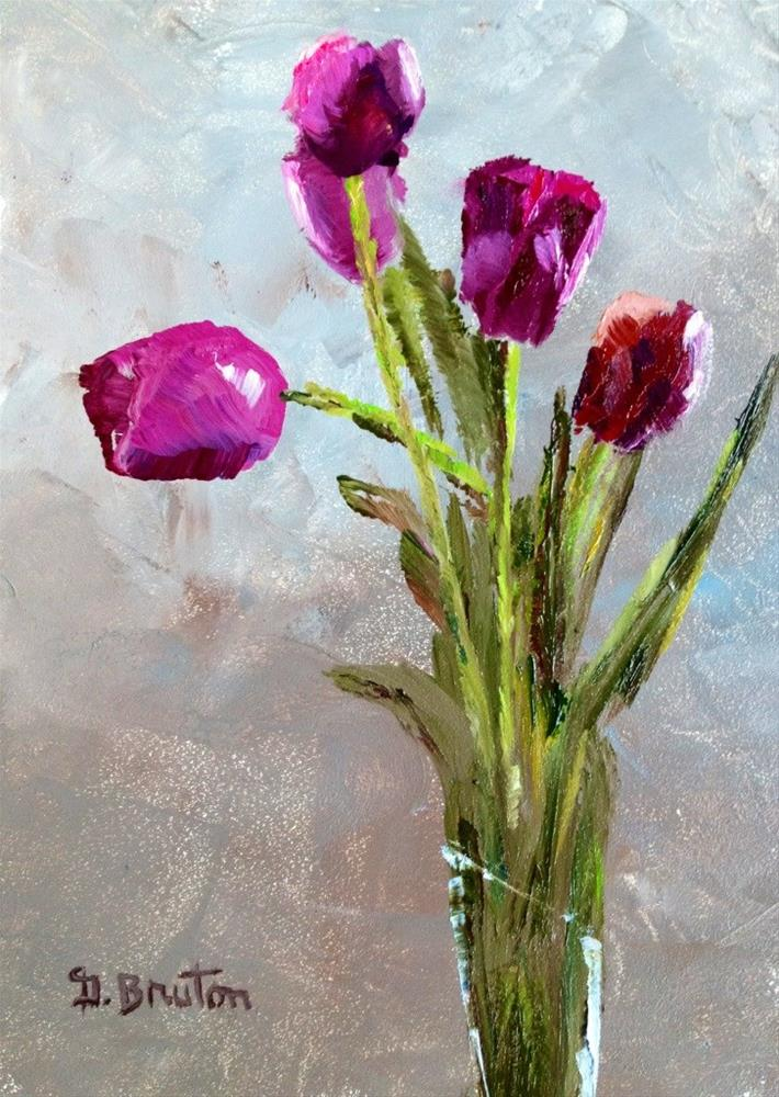 """Red Tulips"" original fine art by Gary Bruton"