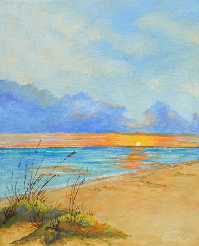 """Boca Grand Sunset"" original fine art by Gloria Urban"