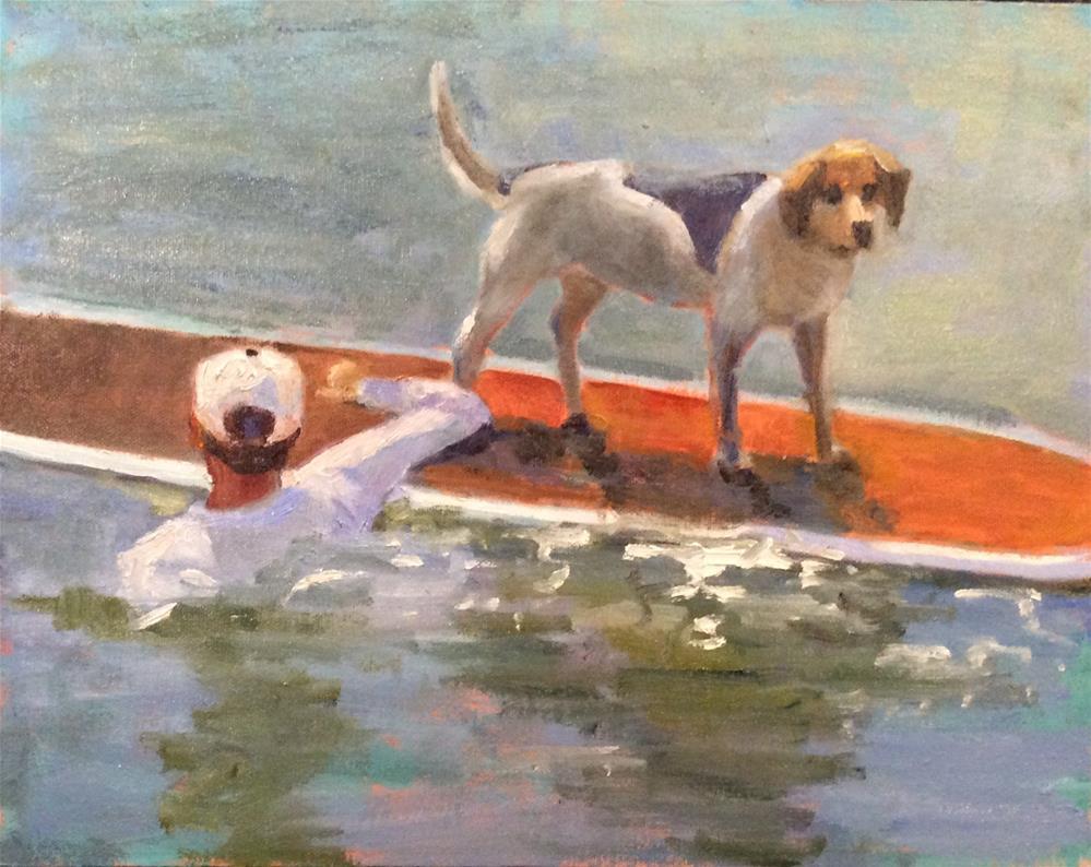 """Annie Gets a Ride"" original fine art by Debbie Dowdle"