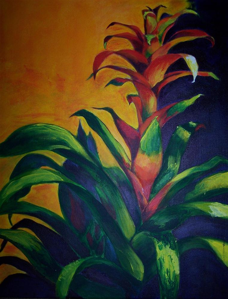"""Bromeliad"" original fine art by Maureen Ghetia"