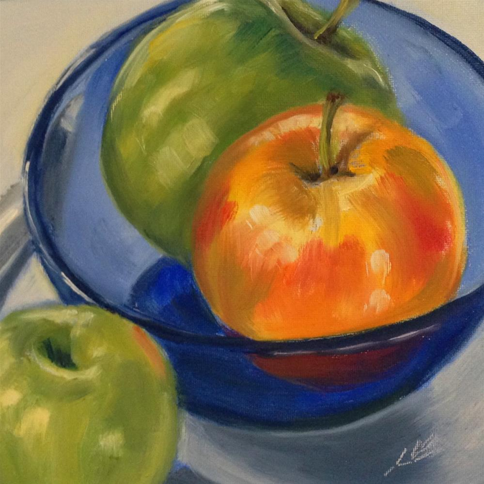 """Fall Apples"" original fine art by Linda Lowery"
