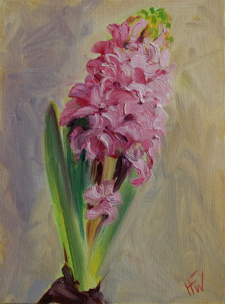 """Pink Hiacynth"" original fine art by H.F. Wallen"