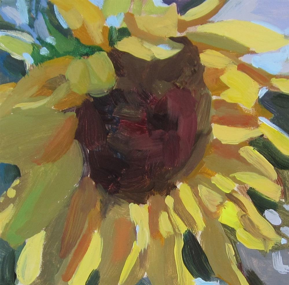 """Sunflower #2"" original fine art by Kaethe Bealer"