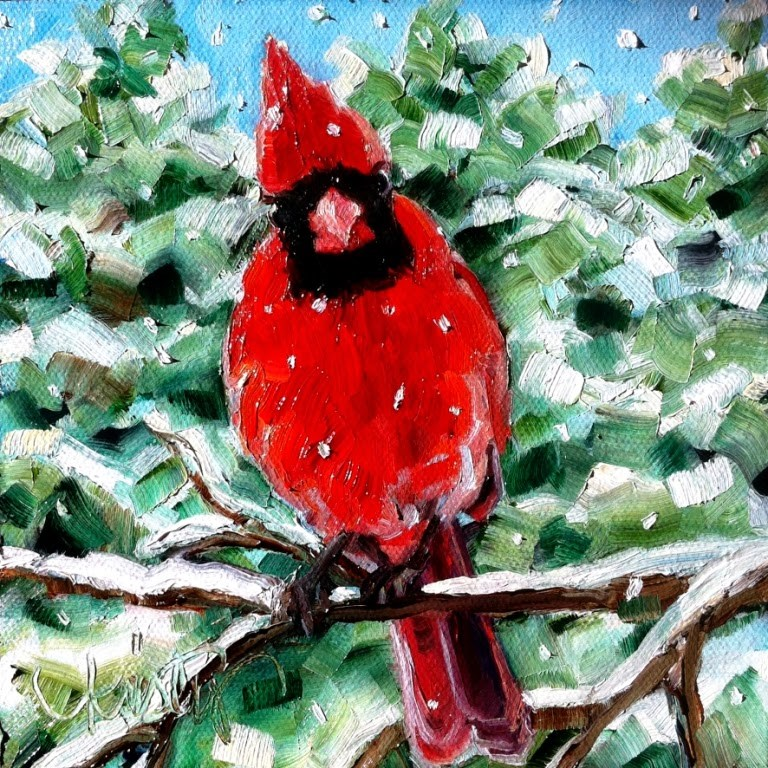 """OUT ON A LIMB"" original fine art by Kristy Tracy"