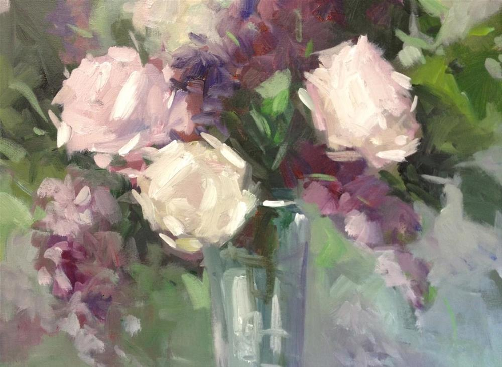 """Roses, lilacs & sunshine"" original fine art by Parastoo Ganjei"