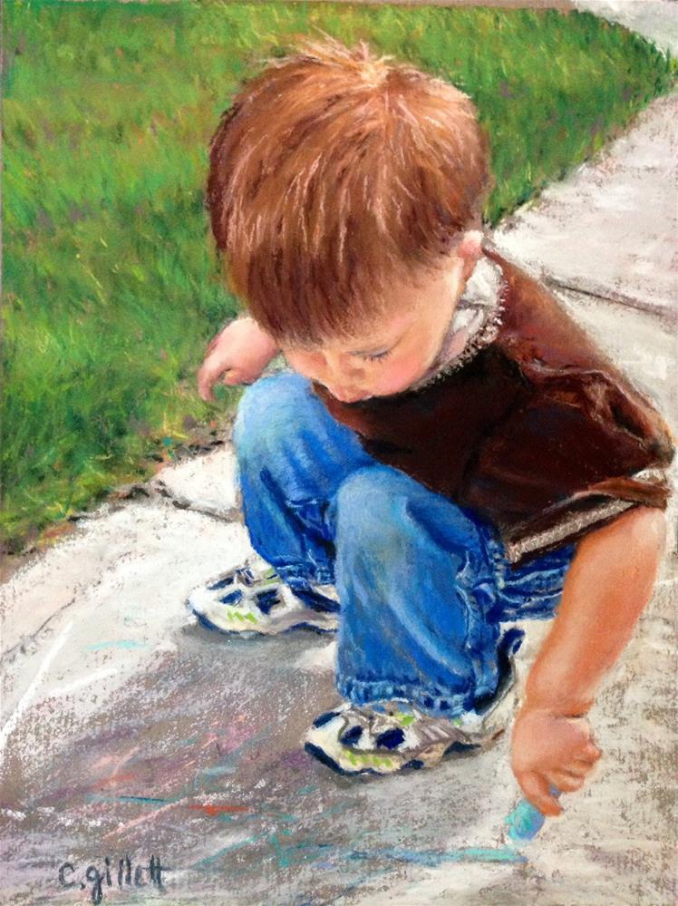 """""""Art Walk"""" original fine art by Cindy Gillett"""