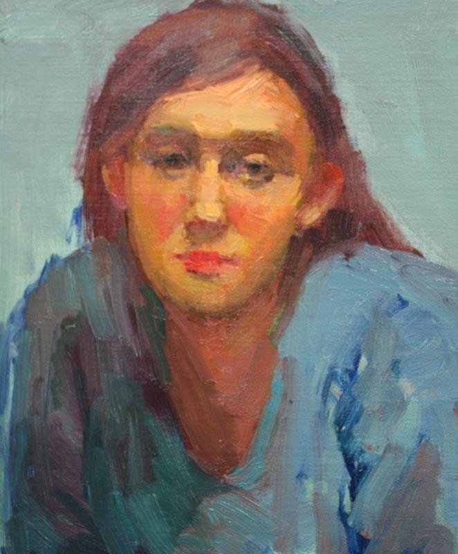 """Blue Dress"" original fine art by Kathryn Townsend"