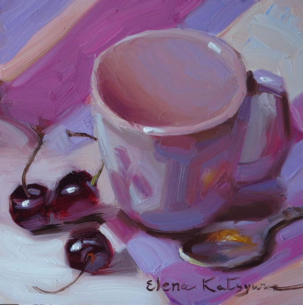 """Still life in Lavender"" original fine art by Elena Katsyura"