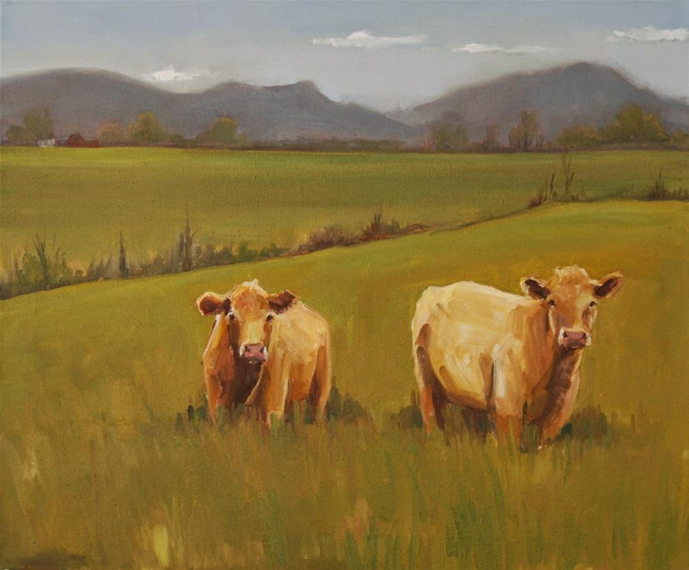 """land of milk and honey"" original fine art by Carol Carmichael"