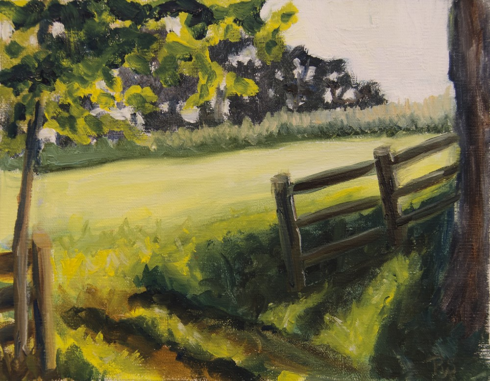 """Fence Opening"" original fine art by Rachel Steely"