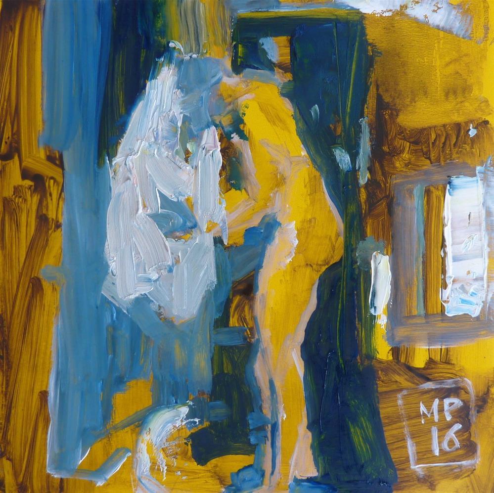 """im Badezimmer / in the bathroom"" original fine art by Mila Plaickner"