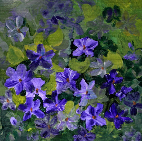 """Violets"" original fine art by Jean Nelson"