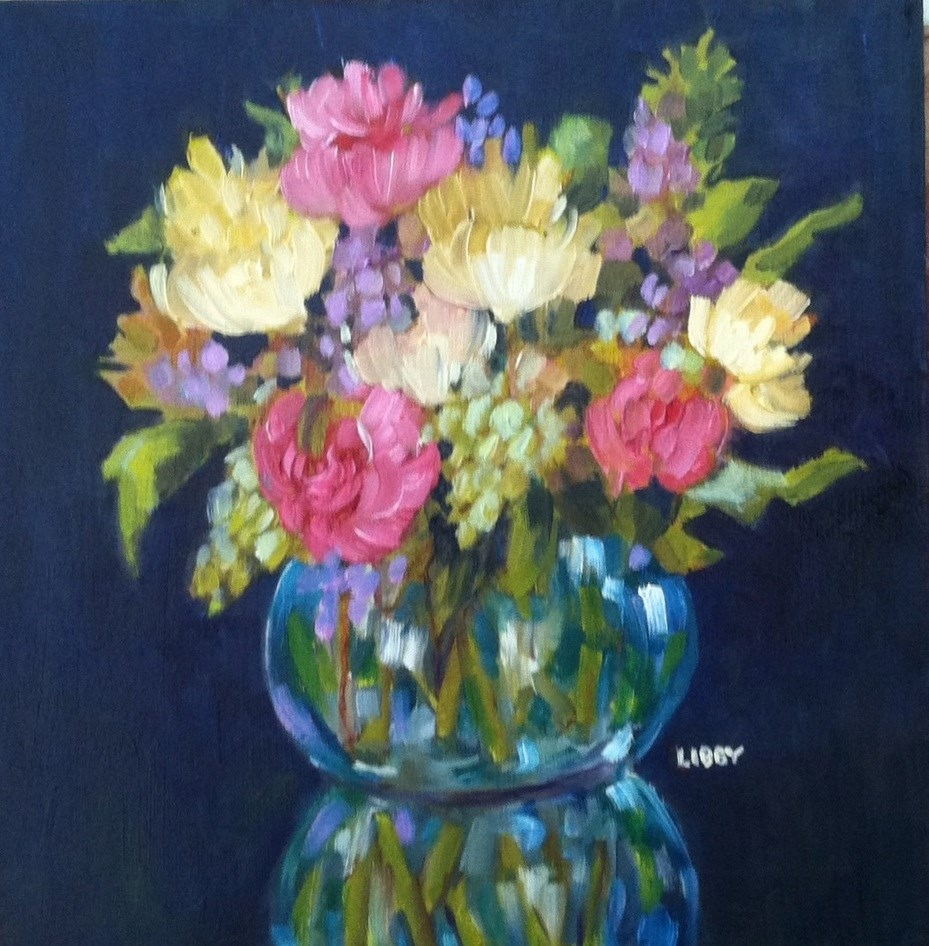 """Bouquet for Rosie"" original fine art by Libby Anderson"