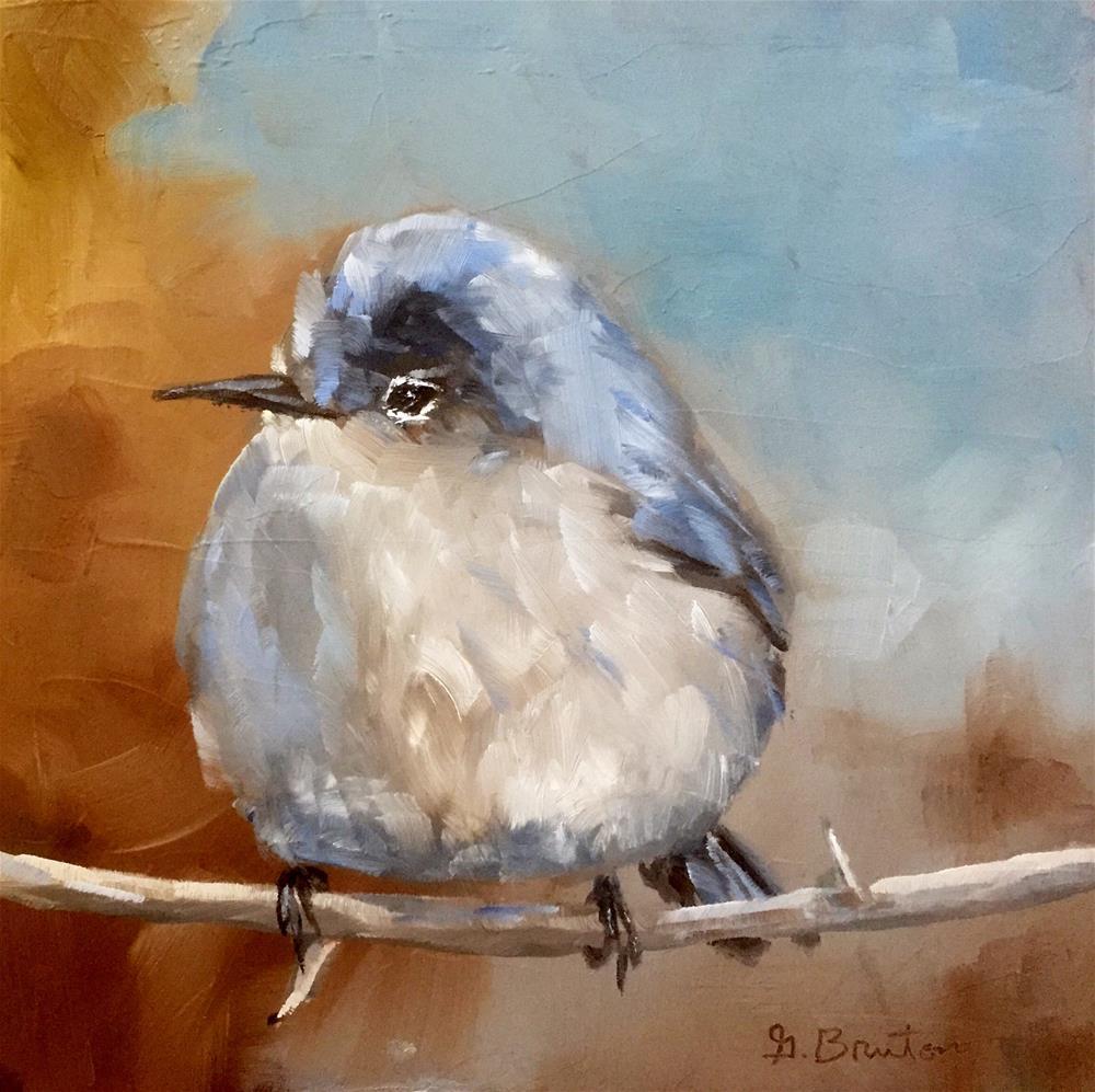 """Blue Gray Gnatcatcher"" original fine art by Gary Bruton"