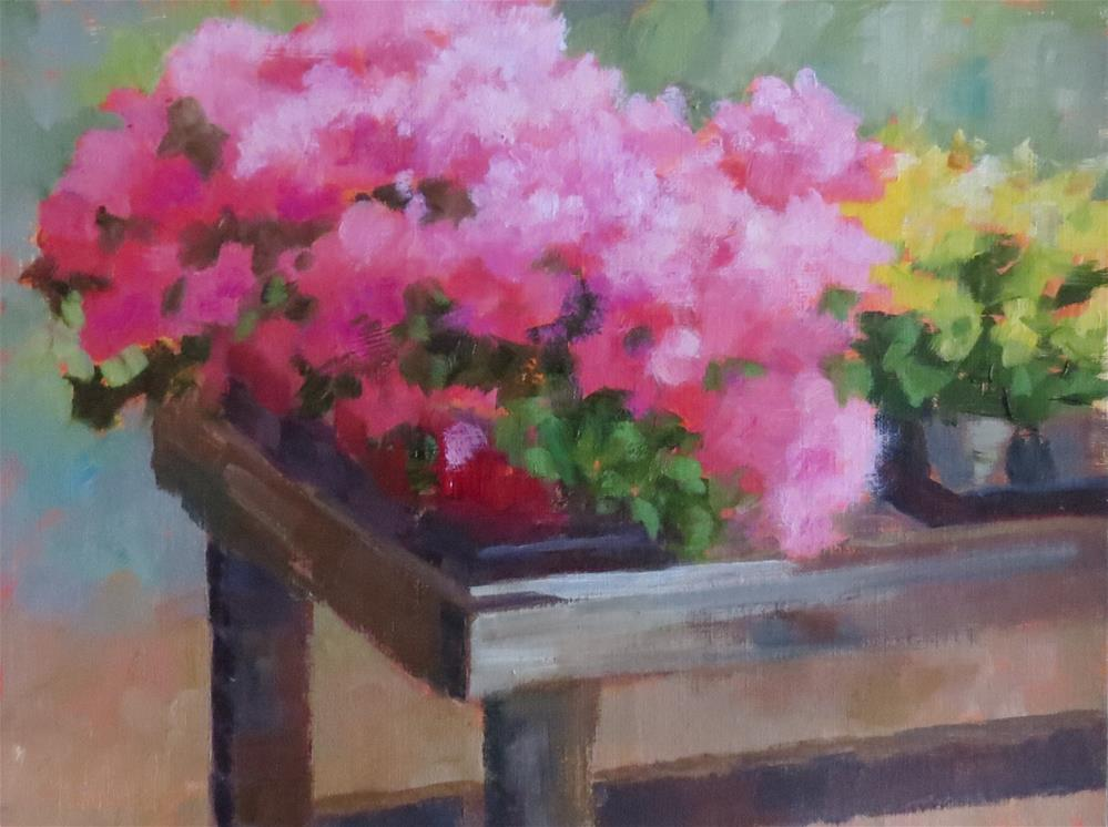 """In The Greenhouse"" original fine art by Pam Holnback"