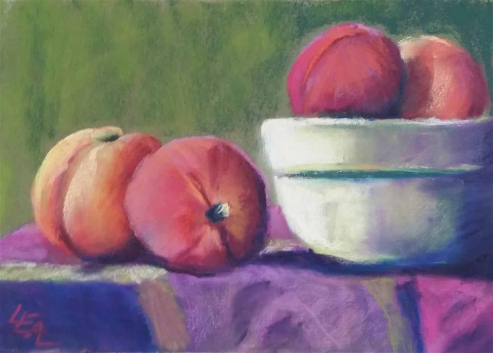 """Bowl of Peaches"" original fine art by Anna Lisa Leal"