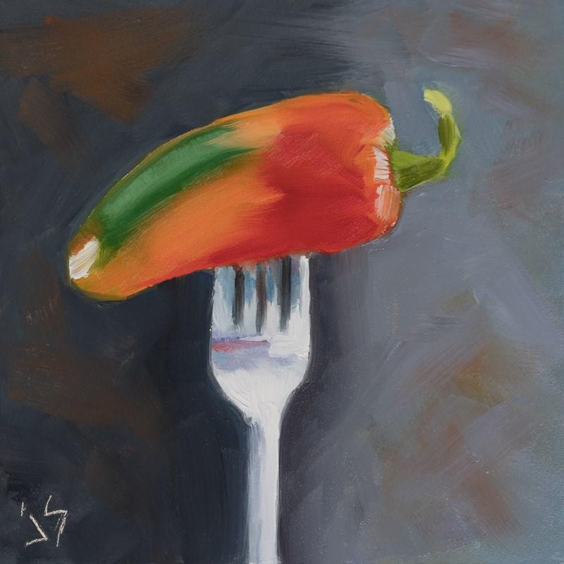 """Stick a Fork in It"" original fine art by Johnna Schelling"