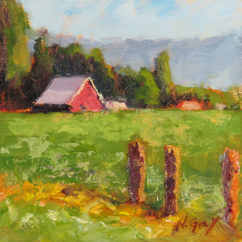 """West Ellensburg"" original fine art by Naomi Gray"