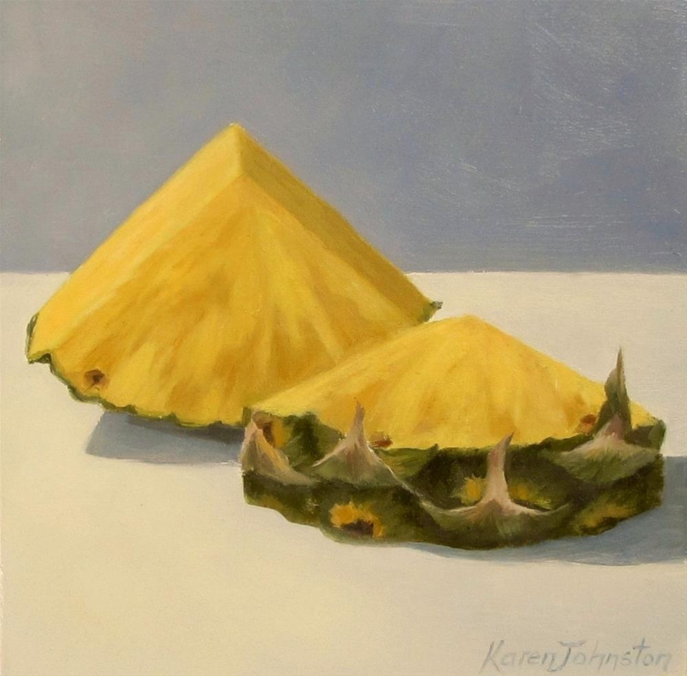 """Pineaple Slices"" original fine art by Karen Johnston"