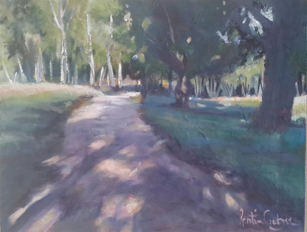 """Cool shadows"" original fine art by Rentia Coetzee"