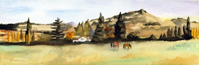 """Greener Pastures"" original fine art by Norm Rossignol"
