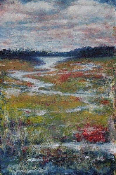 """Meandering Stream"" original fine art by Jana Johnson"