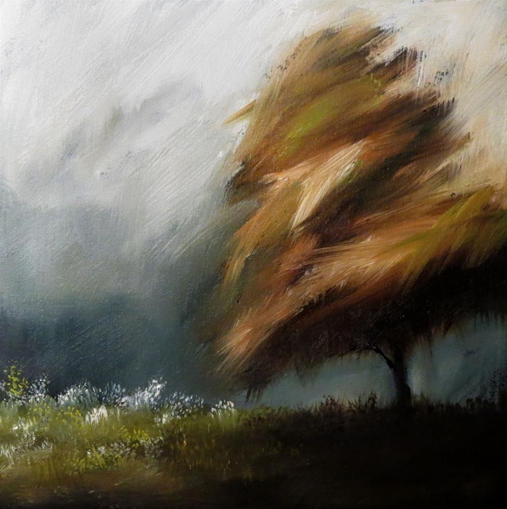 """A Windy Day"" original fine art by Bob Kimball"