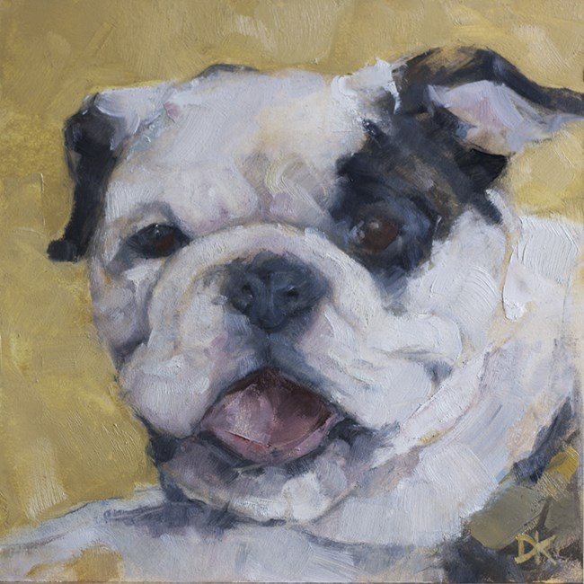 """Dog Days of Summer - Dog Portrait original art by Deb Kirkeeide"" original fine art by Deb Kirkeeide"