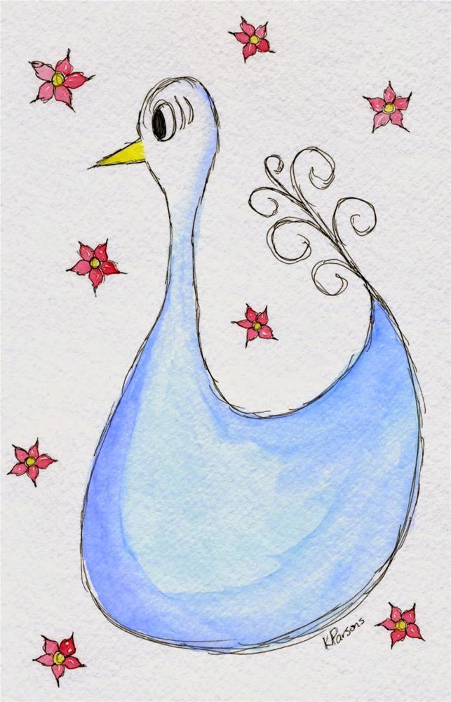"""""""Bluebird"""" original fine art by Kali Parsons"""