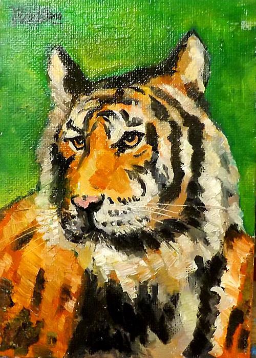 """Tiger,M25"" original fine art by Run-      Zhang Zane"