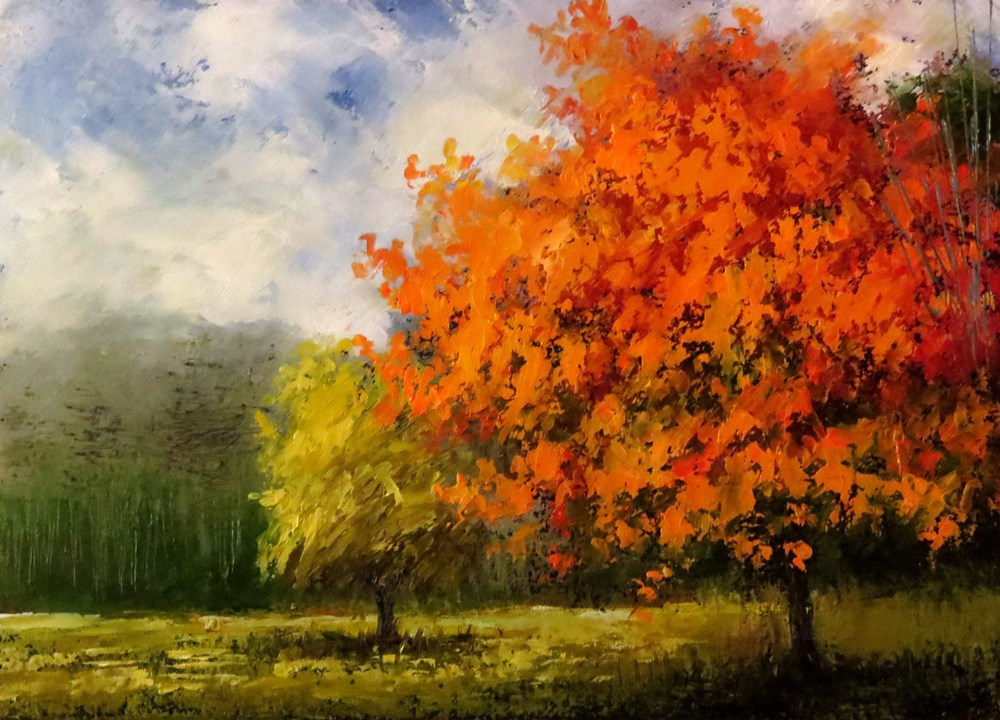 """Orange Glory Maple II"" original fine art by Bob Kimball"