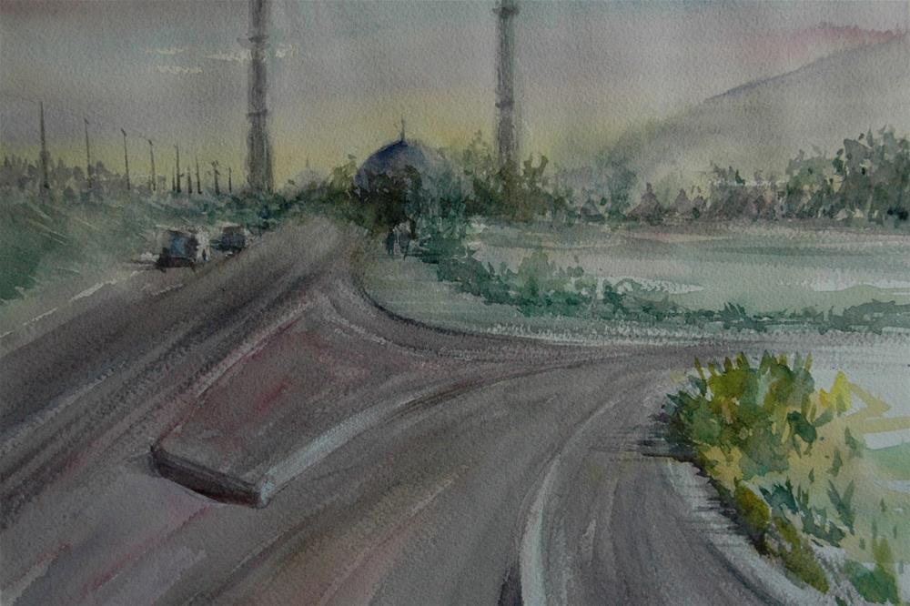 """Near Brighton College Al Ain"" original fine art by Midori Yoshino"