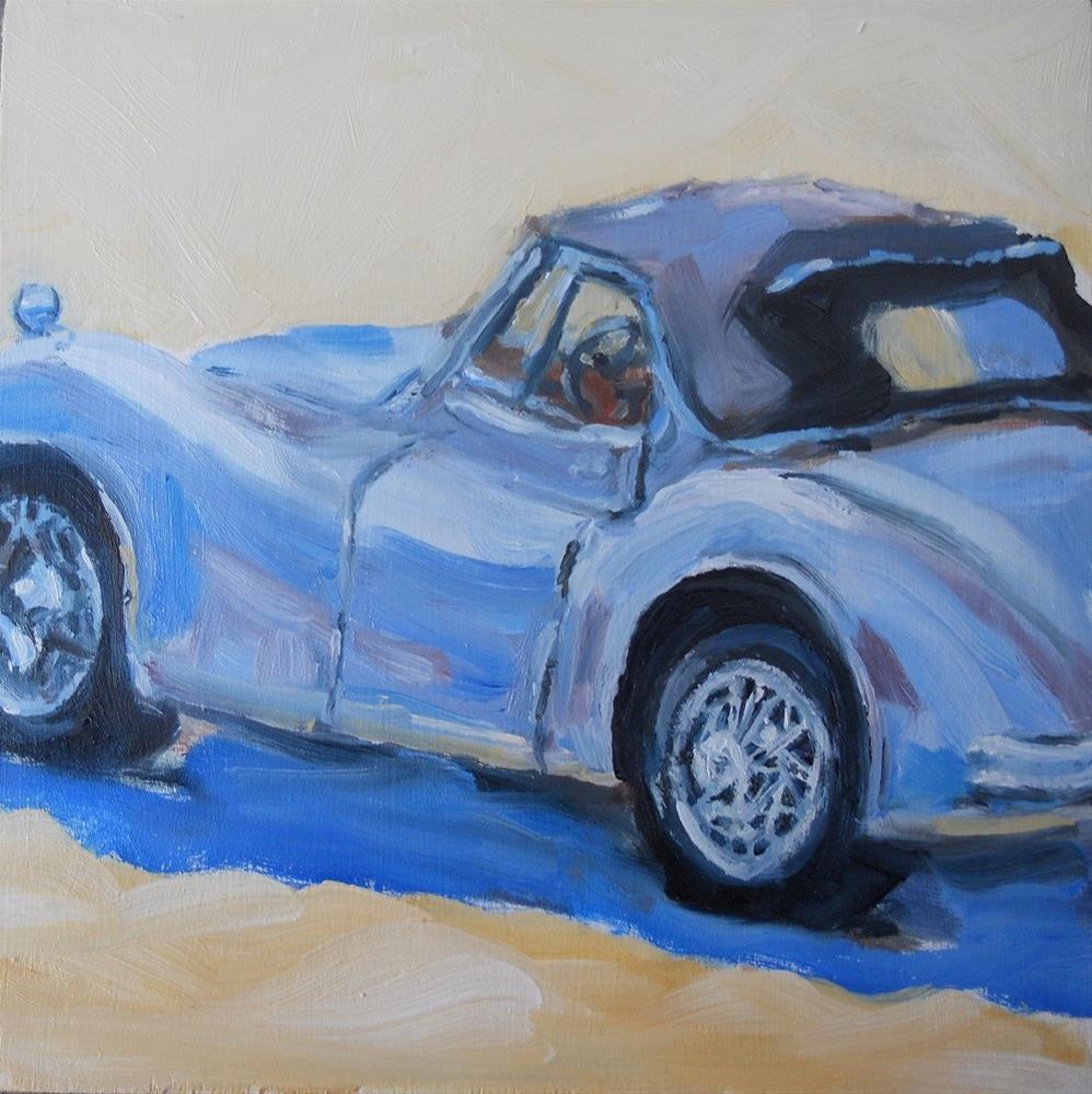 """'55 Jaguar"" original fine art by Susan Baker"