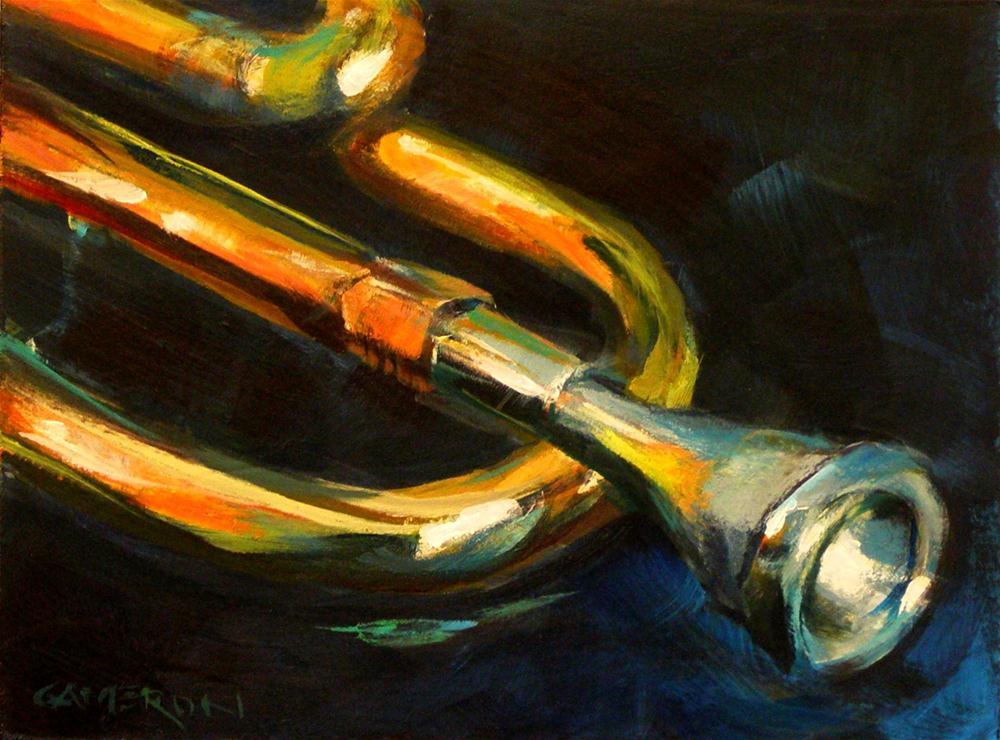 """TRUMPET"" original fine art by Brian Cameron"