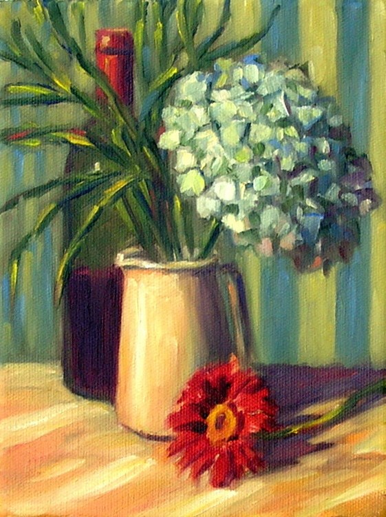 """Still Life with Hydrangea - 2"" original fine art by Irina Beskina"
