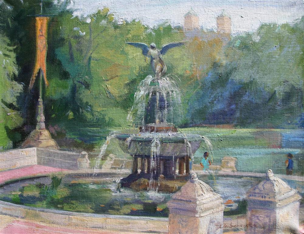 """Bethesda Fountain, Central Park, New York"" original fine art by Ann Buenaventura"
