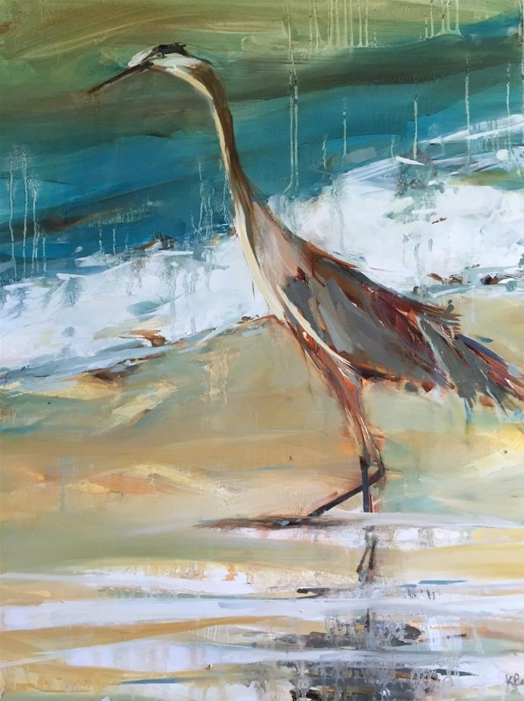 """""""What's the Catch"""" original fine art by Kathleen Broaderick"""
