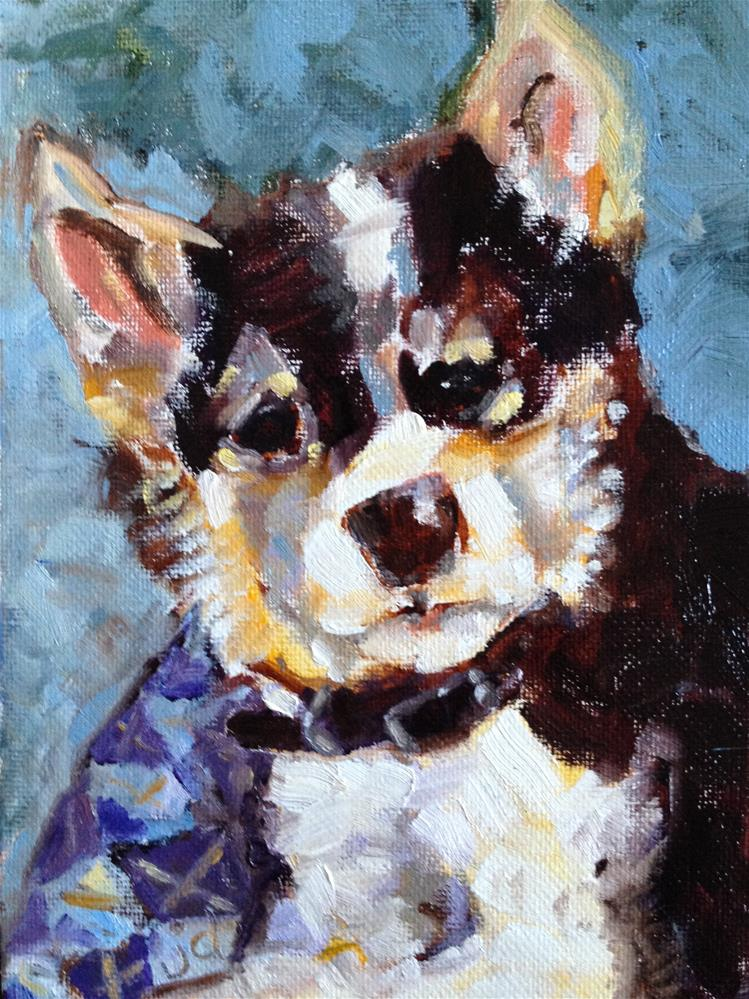 """Young pup"" original fine art by Jean Delaney"