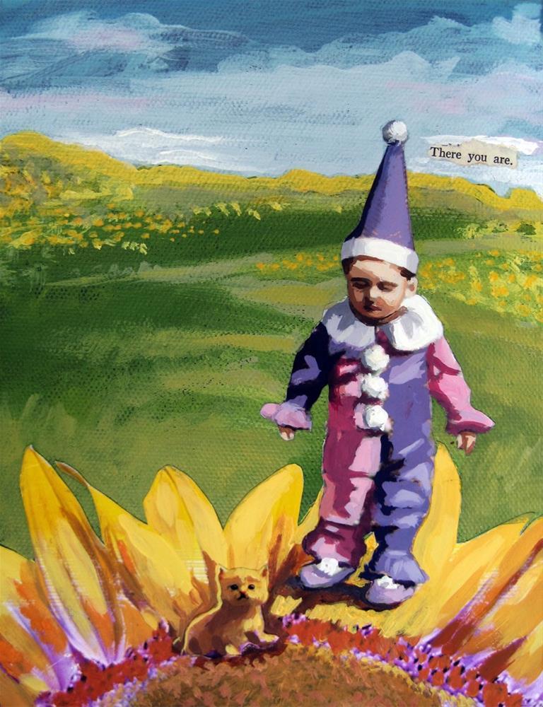 """""""Little Boy & Kitten #6 of Summer Specials"""" original fine art by Linda Apple"""