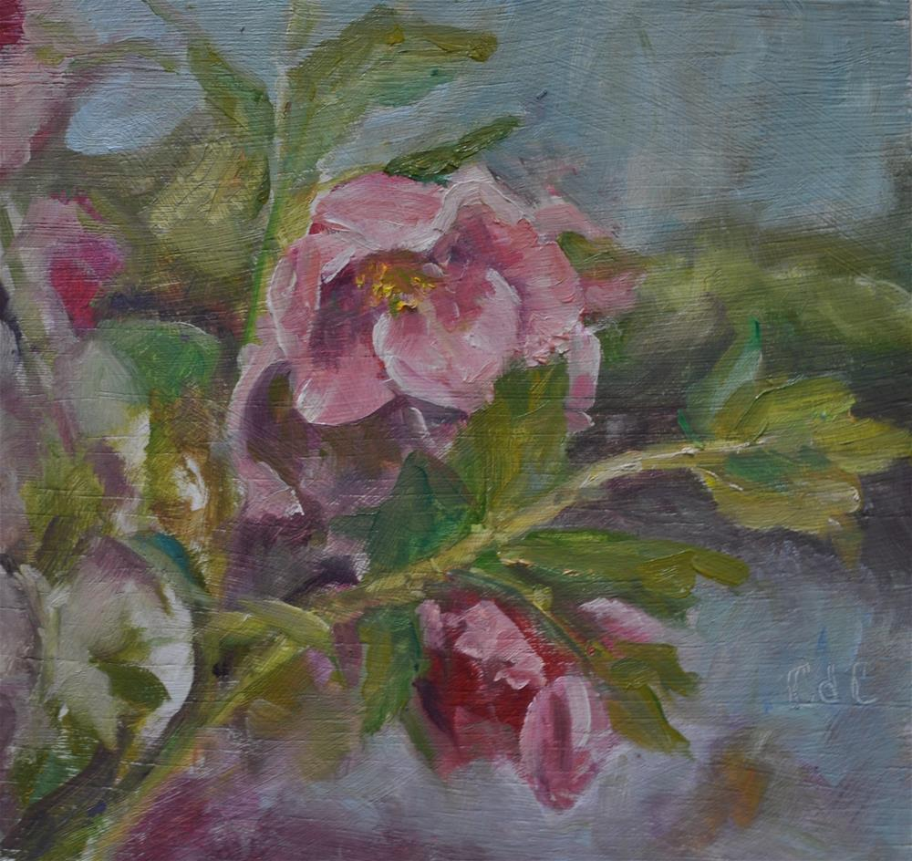 """Pretty in Pink"" original fine art by Catherine Crookston"