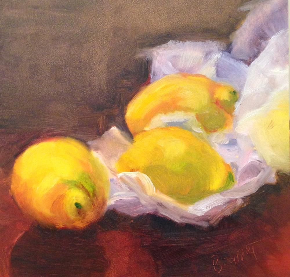 """day8; lemons"" original fine art by Brenda Short"