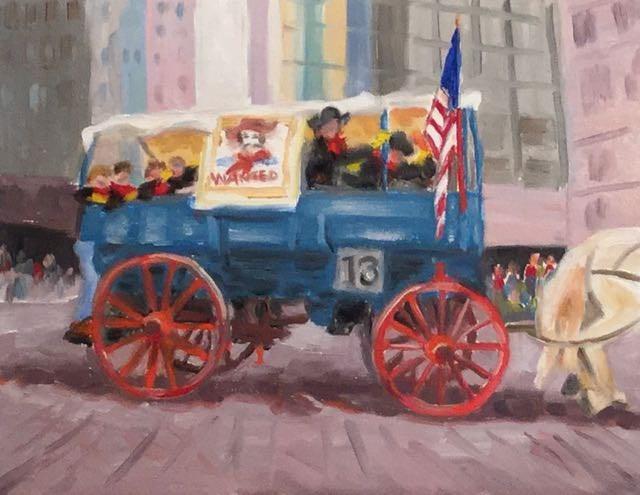 """Wagon 13"" original fine art by Judy Elias"